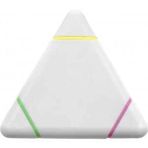 Háromszög alakú szövegkiemelő, műanyag