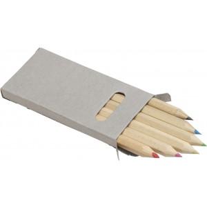 Fa színesceruza készlet, 6 db-os, kartondobozban